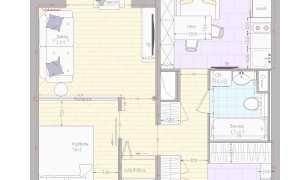 Перепланировка однокомнатной квартиры серии П-44